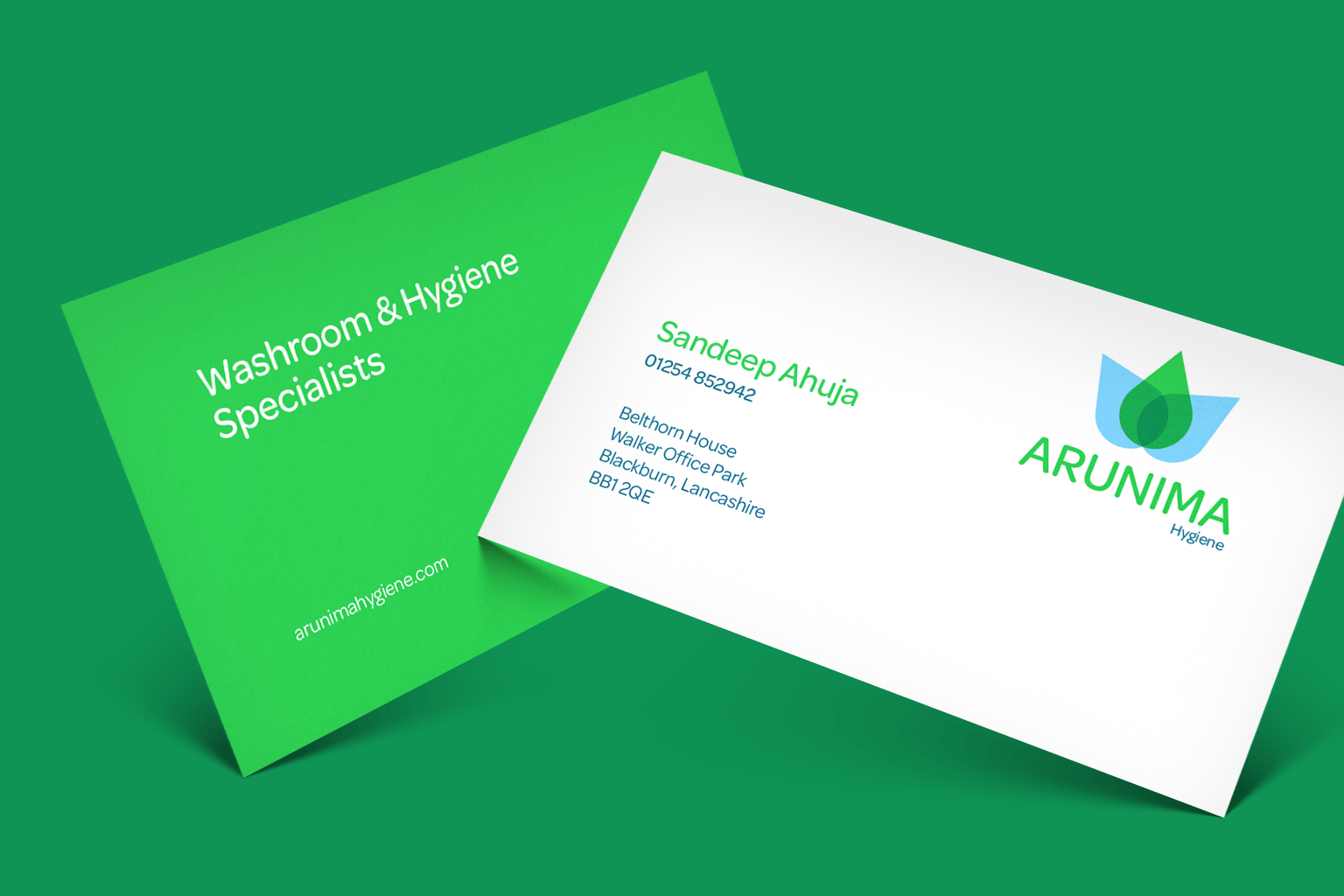 Arunima business card design